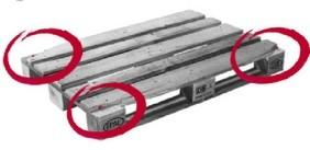 Više od dveju donjih ili gornjih ivičnih daski su tako slomljene, da se vidi više od jednog eksera ili zavrtnja.